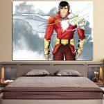 DC Comics Superhero Shazam White 1pc Wall Art Canvas Print