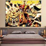 DC Comics Shazam Godly Lightning Blast 1pc Wall Art Canvas Print