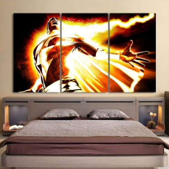 DC Comics Mightiest Mortal Shazam Epic 3pc Wall Art Canvas Print