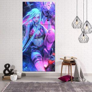 League Of Legends Jinx The Loose Canon 3pcs Vertical Canvas