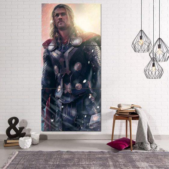 Thor Real Super Cool Serious Portrait 3pcs Canvas Vertical