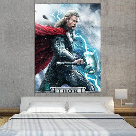 Avenger Thor Norse God of Thunderlight 1pc Vertical Canvas
