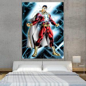 Captain Marvel Electrifying Vertical 1pc Wall Art Canvas Print