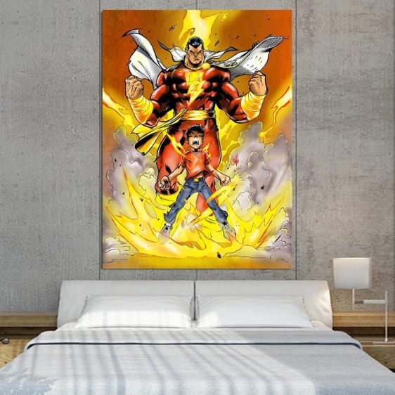 Young Billy Shazam Transformation 1pc Wall Art Canvas Print
