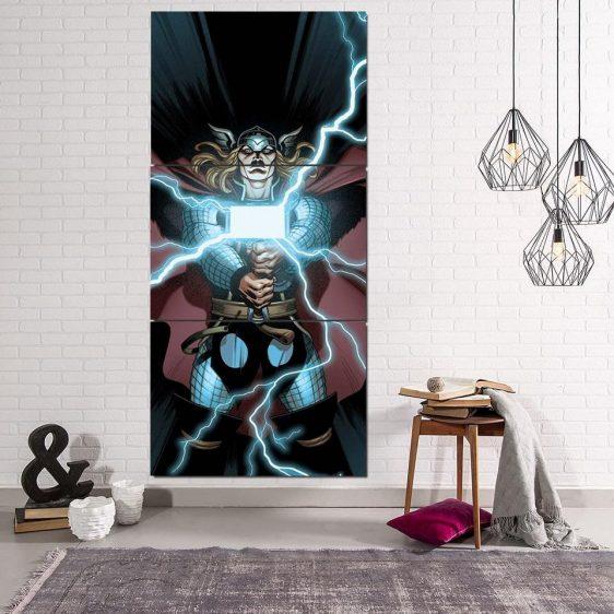 Thor Cartoon Super Avengers Magical Hammer 3pcs Canvas