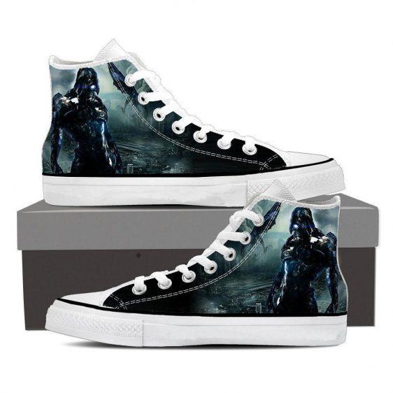 Mass Effect Geth Legion Battle Converse Sneaker Shoes