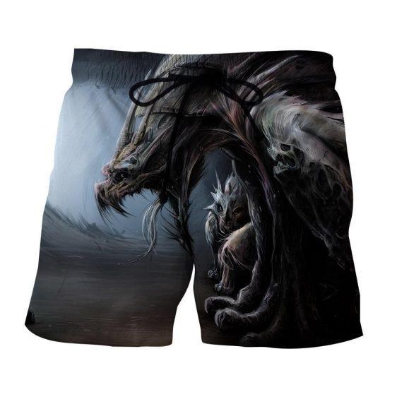 World of Warcraft Dragon Creature Fan Art Design Shorts