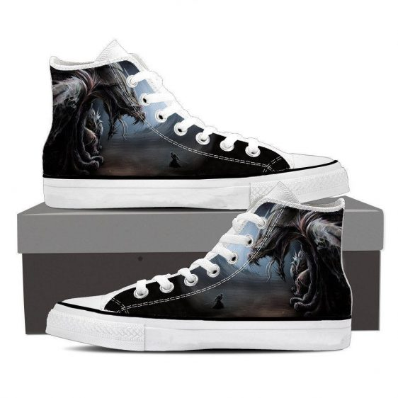 World of Warcraft Dragon Creature Fan Art Design Sneaker Converse Shoes