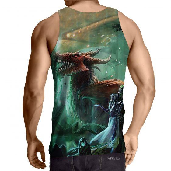 World of Warcraft Elf Dragon Fantasy Gaming Art Tank Top