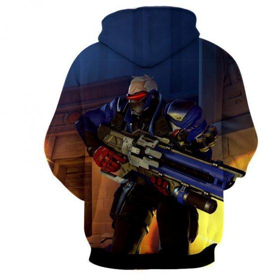 Overwatch Soldier 76 Manhunt Rocket Game Concept Hoodie