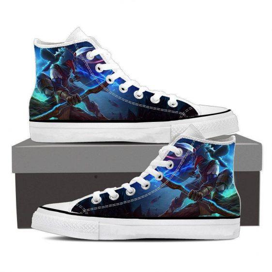 World of Warcraft Archer Raven Mask Vibrant Design Sneaker Converse Shoes