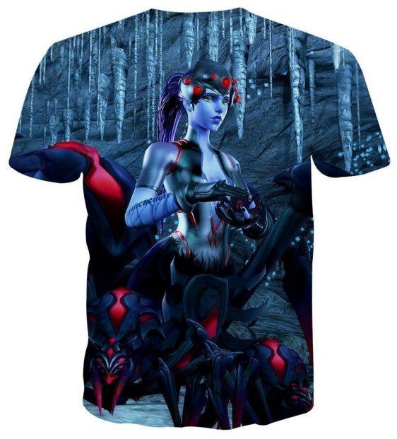 Overwatch Widowmaker Spider Queen Noire Skin Design T-Shirt