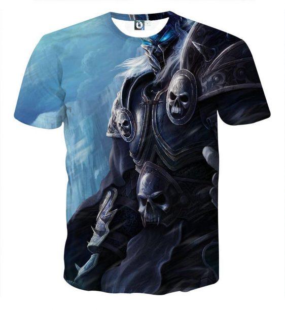 World of Warcraft Arthas Lich King Frozen Throne Game T-Shirt
