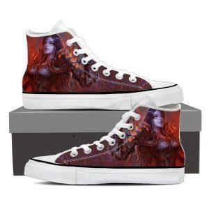 Diablo 3 Fan Art Demon Lord Female Version Game Sneaker Converse Shoes - Superheroes Gears