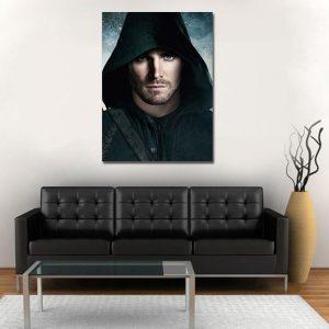 DC Comics Green Arrow Dark Portrait 1pc Wall Art Canvas Print