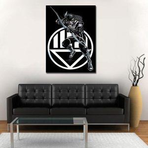 DC Comics Green Arrow Black Canary 1pc Wall Art Canvas Print
