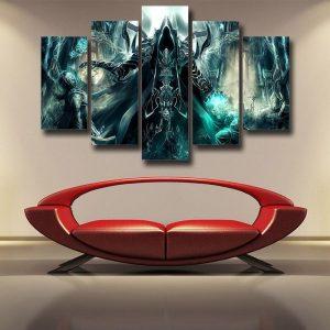Diablo 3 Reaper of Soul Mathael Death Angel Cool 5pc Wall Art Prints - Superheroes Gears