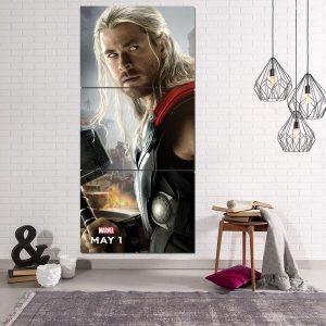Marvel The Avengers Thor Portrait Unique 3pcs Canvas Print - Superheroes Gears