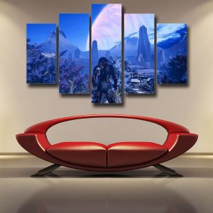 Mass Effect Andromeda Planet Alien Concept 5pc Wall Art Canvas Prints - Superheroes Gears