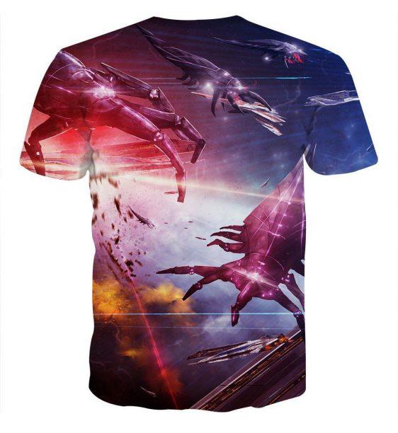 Mass Effect Reaper Battle Spaceship Cool Game T-Shirt