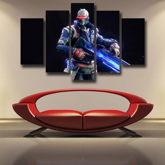 Overwatch Soldier 76 Offense 5pc Wall Art Decor Canvas Prints