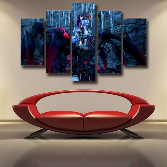 Overwatch Widowmaker Spider Queen 5pc Wall Art Canvas Prints