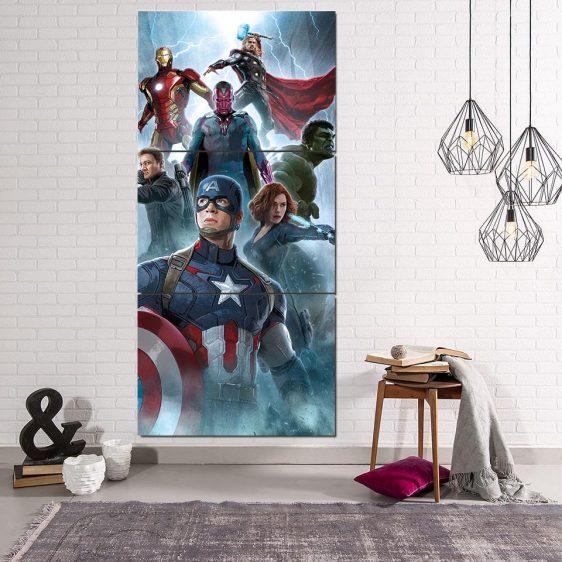 The Avengers Age of Ultron Main Characters 3Pcs Wall Art