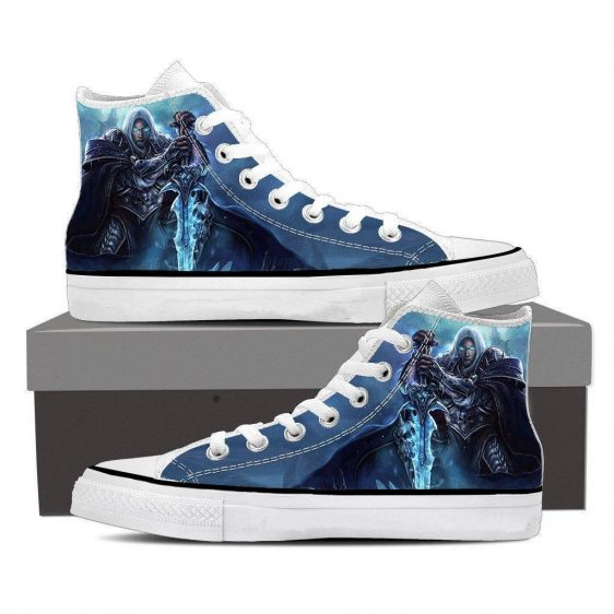 World of Warcraft Frozen Throne Arthas Cool Game Sneakers Converse Shoes
