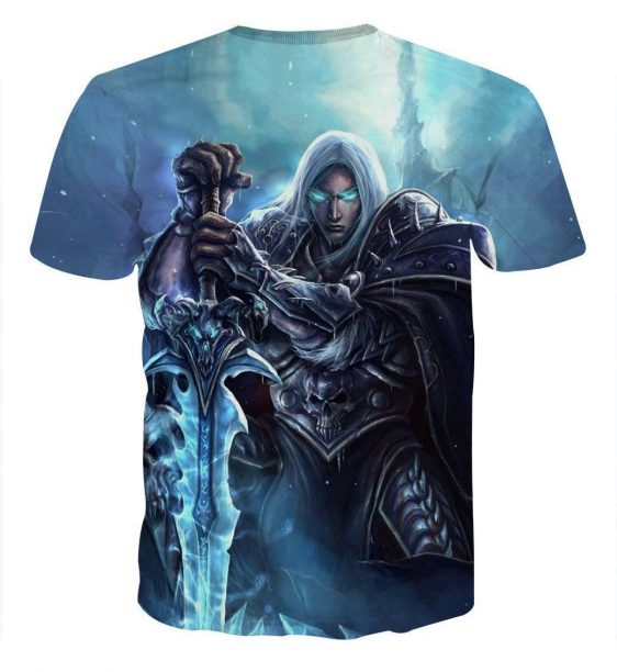 World of Warcraft Frozen Throne Arthas Cool Game T-Shirt