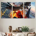 Spider-Man Homecoming Vulture Ironman Iconic 3pc Wall Art Canvas Print