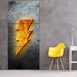 DC Comics Captain Marvel Shazam! Logo 3pc Wall Art Canvas Print