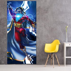 DC Comics Flying Captain Marvel Shazam Vertical 3pc Canvas Print