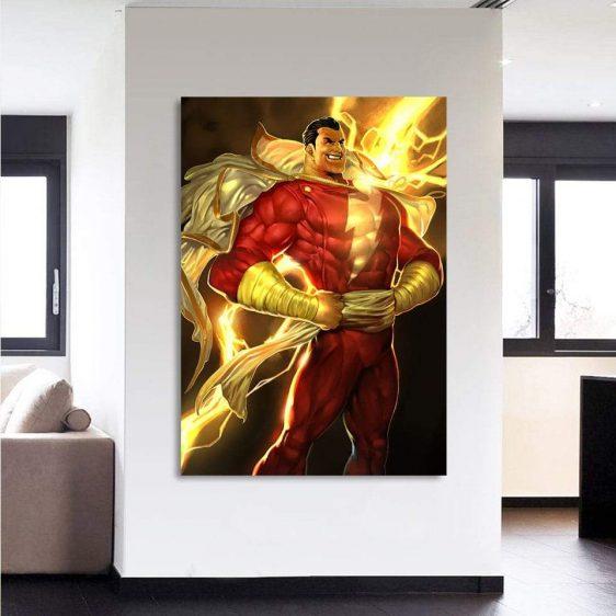 DC Comics Shazam Golden Vertical 1pc Wall Art Canvas Print