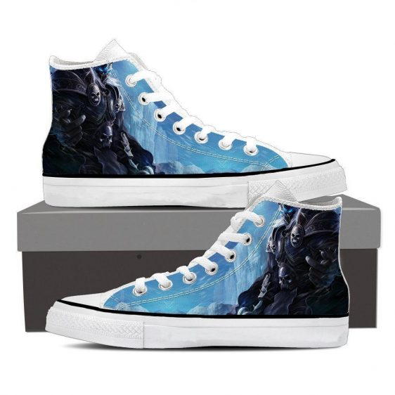 World of Warcraft Arthas Lich King Frozen Throne Sneaker Converse Shoes
