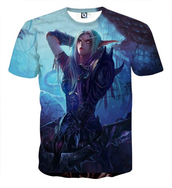 World of Warcraft Sylvanas The Forsaken Queen Art T-Shirt