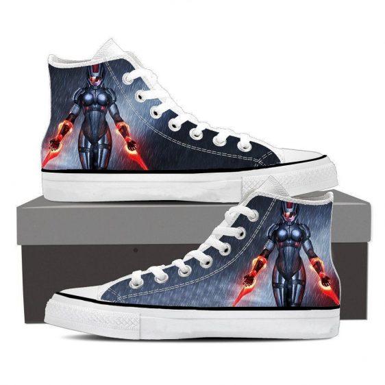 Mass Effect Captain Dual Laser Blades Converse Sneaker Shoes