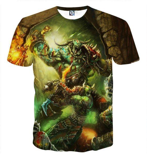 World of Warcraft Orcs Warrior Fight War Fan Art T-Shirt