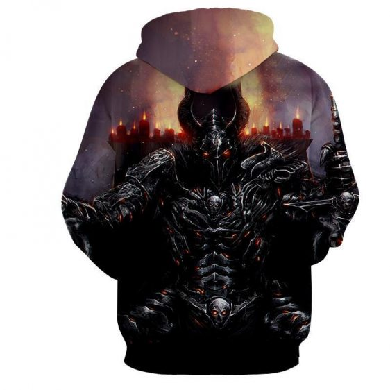 World of Warcraft Death Knight Evil Theme Gaming Hoodie