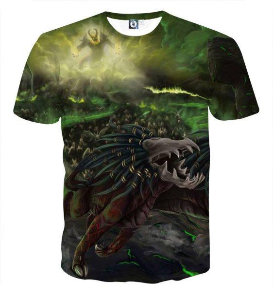 World of Warcraft Felhound Monster Creature Artwork T-Shirt
