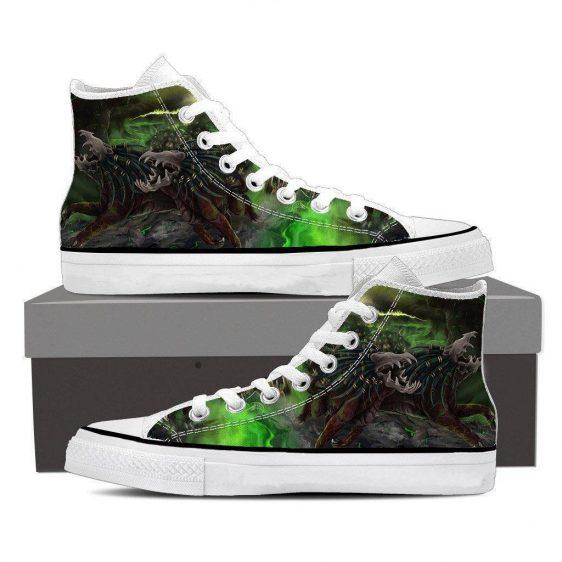 World of Warcraft Felhound Monster Creature Artwork Sneaker Converse Shoes