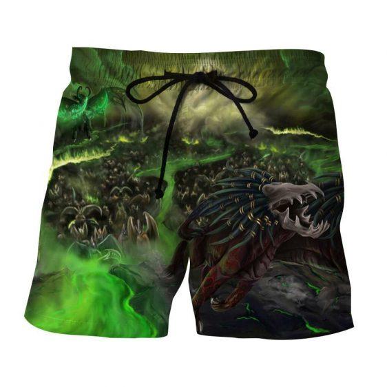 World of Warcraft Felhound Monster Creature Artwork Shorts