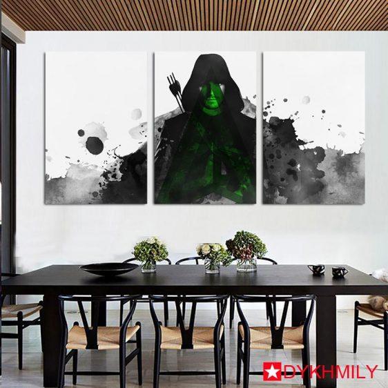DC Comics Awesome Green Arrow Artwork 3pc Wall Art Canvas Print