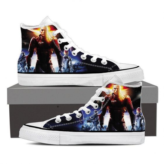 Mass Effect Commander Shepard Soldier Converse Sneaker Shoes