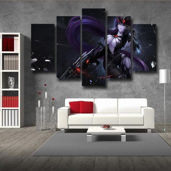 Overwatch Widowmaker Gaming 5pc Wall Art Decor Canvas Prints