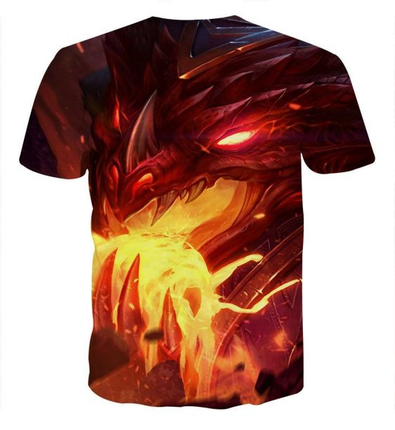Word of Warcraft Cataclysm Deathwing Dragon Awesome T-Shirt