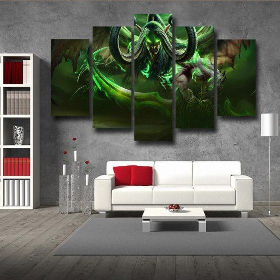 World of Warcraft Illidan Demon Hunter Elf Cool Game 5pc Wall Art Prints