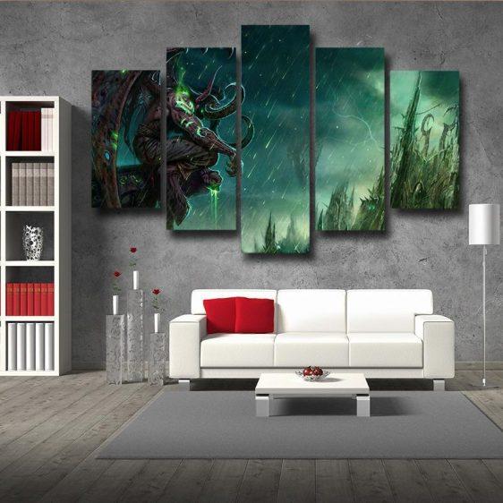 World of Warcraft Illidan The Betrayer Hunter Game 5pc Wall Art Prints