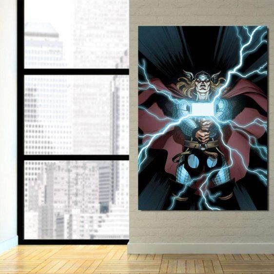 Thor Cartoon Super Avengers Magical Hammer 1pc Vertical Canvas