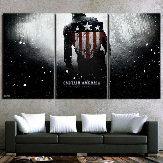 Captain America The Victorious Battle 3pcs Canvas Horizontal