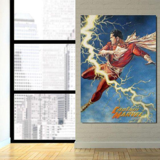 Shazam DC Comics Lightning Vertical 1pc Wall Art Canvas Print